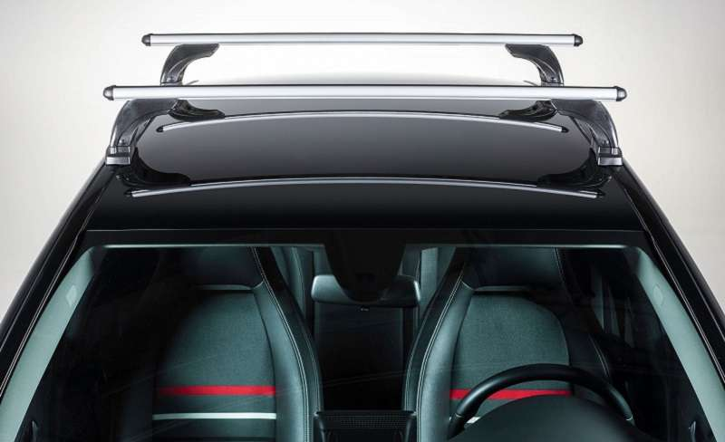 Car roof racks are generally coated with rubber to prevent slipping