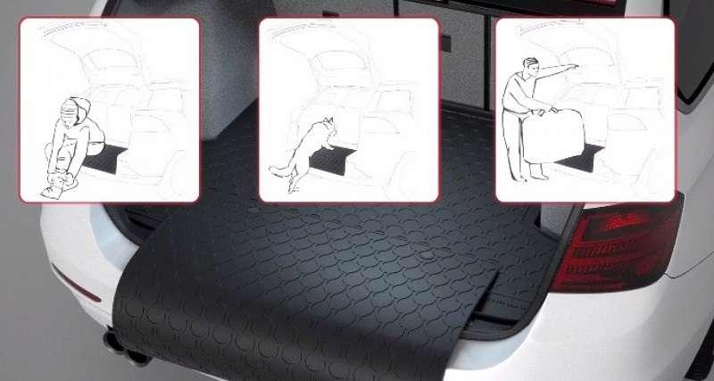 Rubber car boot mat liner