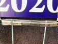 Trump yard sign rigged with razor blades left town worker needing 13 stitches